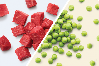 Fresh Beef Chunks and Peas